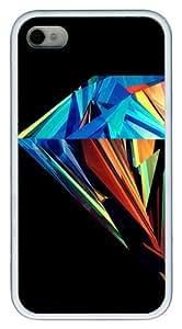 Diamond TPU White Case for iphone 4S/4