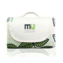 """Outdoor Blanket Picnic blanket Tote - MIU COLOR Thicker and Durable Waterproof and Sand Proof Beach Blanket, 57""""x78"""", Triple Layers"""