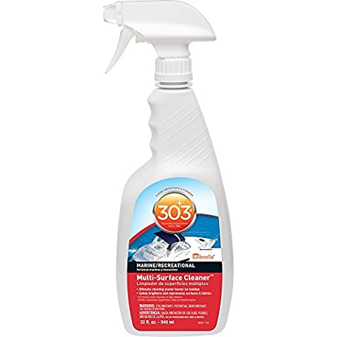 303 Multi Surface Cleaner Spray, All Purpose Cleaner for Marine and Boats, 32 fl. oz. - Water Spots Chrome
