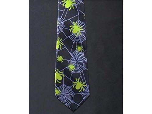 Necktie Narrow Party Men Halloween Yellow Spider Polyester Fashionable Kxrzu for Ties Slim 50tqgw