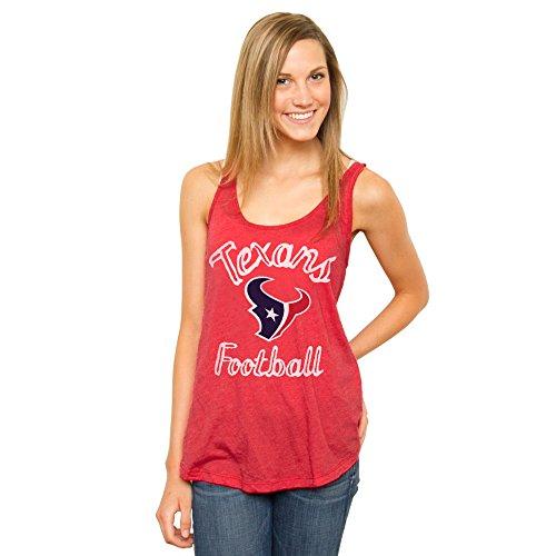 (NFL Houston Texans Women's Retro Timeout Tank Top, Medium, Licorice)