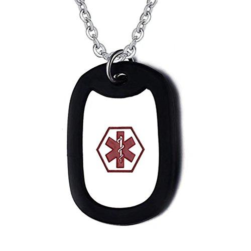Engraved Medical Necklace - 2