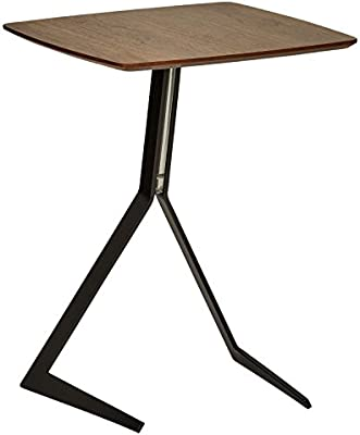 Tremendous Rivet Industrial Tilted Wood And Metal Side End Table 17 3W Walnut Squirreltailoven Fun Painted Chair Ideas Images Squirreltailovenorg