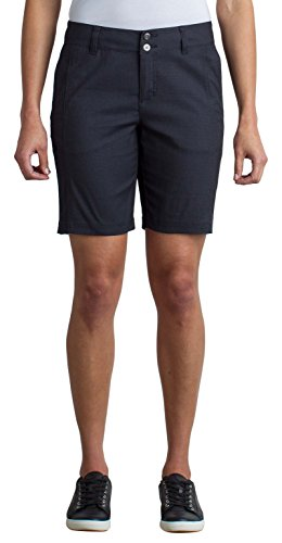 ExOfficio Women's Costera Lightweight Bermuda Shorts, Carbon, Size 8 (Officio Ex Spandex Shorts)