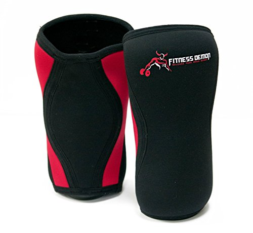 205093f320 Fitness Demon 7mm Knee Compression Brace Non Slip Neoprene Knee Sleeve For  Men, Women &