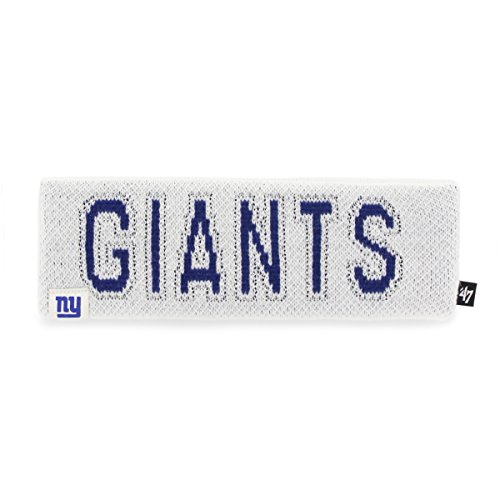 '47 NFL New York Giants Women's Ellie Headband, White, One Size - New York Giants Womens Socks