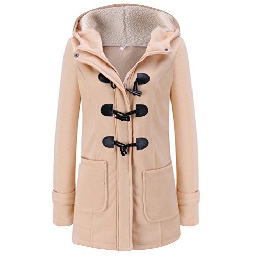 Coat Manteau Laine D'hiver Veste Chaude d'hiver Kaki Veste Mince WanYang Femme Casual Longue Trench Fp87pH