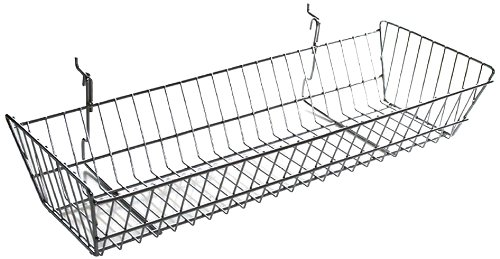 Azar 300626 Large Wire Basket, Chrome