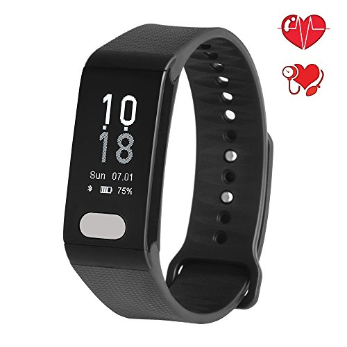 Fitplus ECG Fitness Tracker with Heart Rate Monitor,Waterproof Activity Tracker with Blood Pressure Monitor,Sleep Monitor,Smart Band with Step Tracker,Calorie Tracker,Fitness Watch for Kids Women Men (Womens Fitness System)