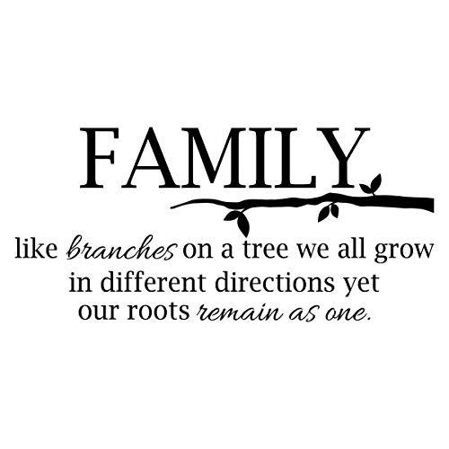 Family Tree Decal Family Like Branches On A Tree Quote Sticker Decor Y18