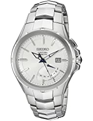 Seiko Mens SRN063 Coutura Kinetic Retrograde Silver-Tone Stainless Steel Watch