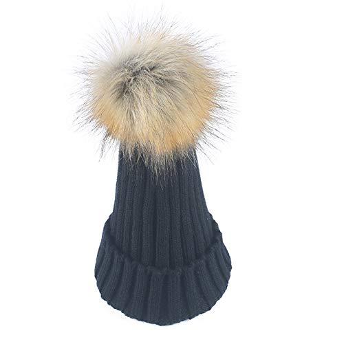 WGFGQX Sombrero De Punto Caliente De Las Señoras Al Aire Libre, Sombrero del Pompom,#1 #1