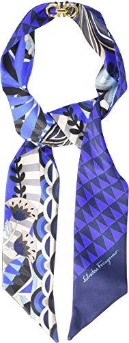 (Salvatore Ferragamo Women's Mini Twill Malawi Silk Scarf B. Marine One Size)