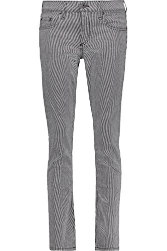 RAG & BONE Tomboy Low-Rise Pinstriped Straight-Leg Jeans 23 RU BIG (25) (Denim Pinstriped Pants)