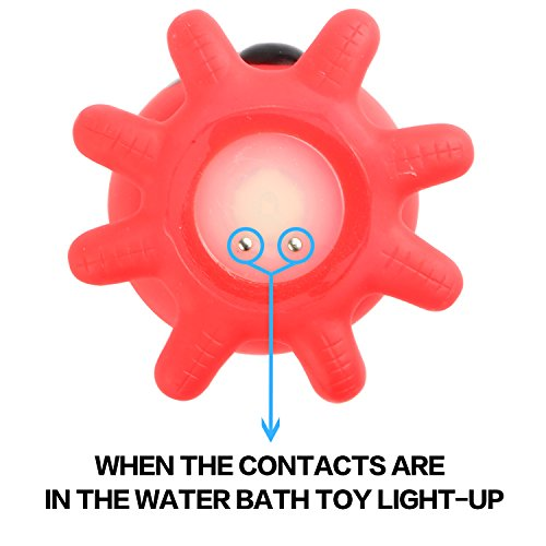 Yeonha Toys Bath Toycan Flashing Colourful Light4 Pack Floating Light Up Baby... Bathing & Grooming