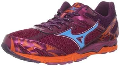 Mizuno Men's Wave Musha 4 Running Shoe,Ember/Fluorite/Red Plum,11 D US