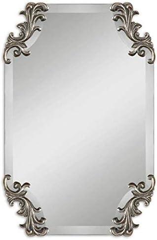 Uttermost Andretta Baruque Shaped Bevel Silver Mirror