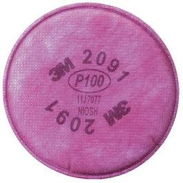3M 2091 P100 Particulate Filter, 50 Pairs by 3M