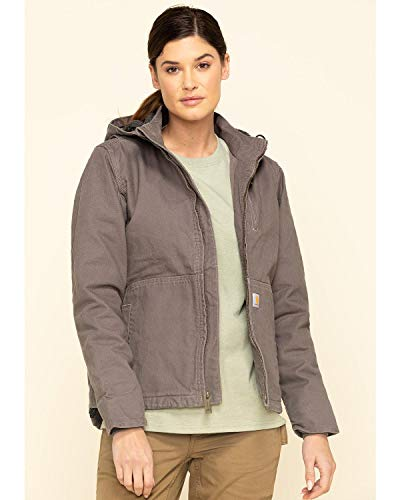 Carhartt Women's Full Swing Caldwell Jacket (Regular and Plus Sizes), Taupe Gray/Shadow, Large