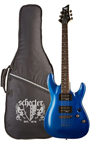 C-1 SGR by Schecter Beginner Electric Guitar - Electric Blue (Amazon Exclusive) by Schecter