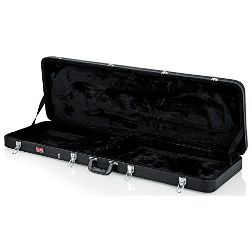 Gator Cases Hard-Shell Wood Case for Electric Bass Guitars; Fits Fender Precision/Jazz Bass, & More ()