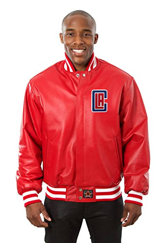 Los Angeles Clippers Leather Varsity Jacket  Xxx Large