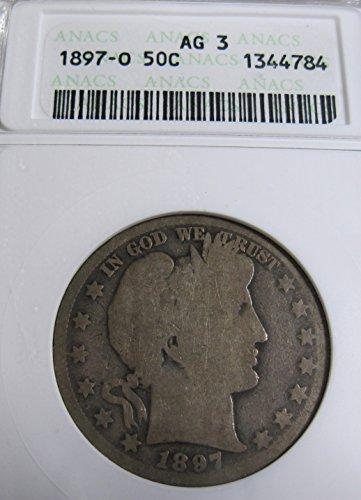 1897 O silver Barber Half Dollar About Good