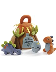 Baby GUND My Dino Adventure Stuffed Plush Playset with Coloring Page, Set of 5, 9""