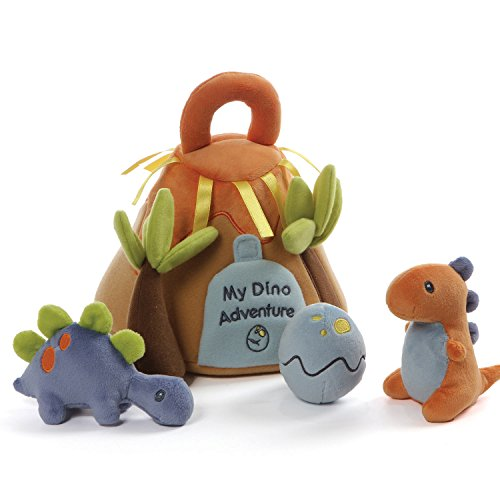 (Baby GUND My Dino Adventure Stuffed Plush Playset with Coloring Page, Set of 5, 9