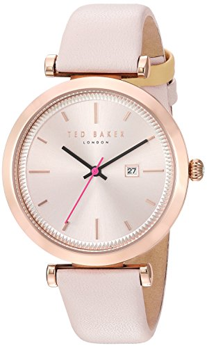 Ted Baker Women's 'AVA' Quartz Stainless Steel and Leather Dress Watch, Color:Pink (Model: 10031518)