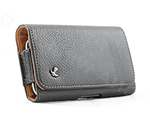 Black Leather Horizontal Carrying Holster Pouch Case for Samsung Galaxy S Blaze 4G T769