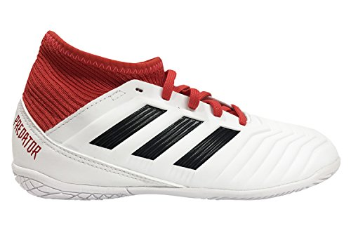 (adidas Unisex ACE Tango 18.3 in J, White/core Black/Real Coral, 5.5 M US Big Kid)
