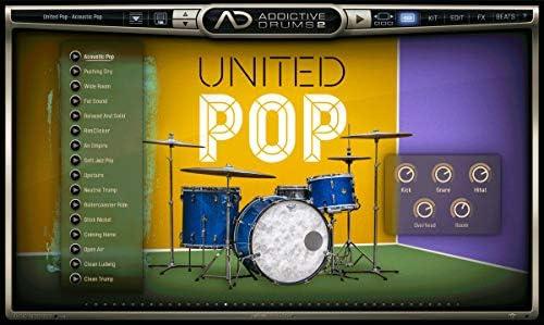 XLN AUDIO エックスエルエヌオーディオ ソフト音源 Addictive Drums 2 ADpak UNITED POP
