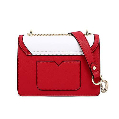 Tamaño La Rojo Pu 15cm 8 Rojo 21cm color 5cm Las Crossbody Playa Hwx Cadena Viaje De Del Señoras Mujeres Bolso Moda XqxPw6