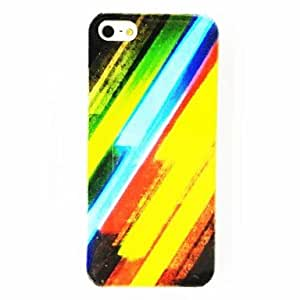 PEACH Punk Color Strips Pattern Plastic Hard Case for iPhone 5/5S