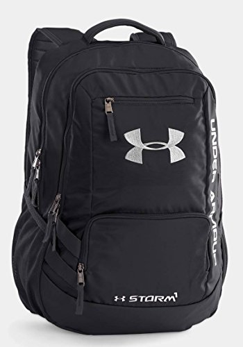 Under Armour Unisex Under Armour Team Hustle Backpack, Black/Silver, One Size