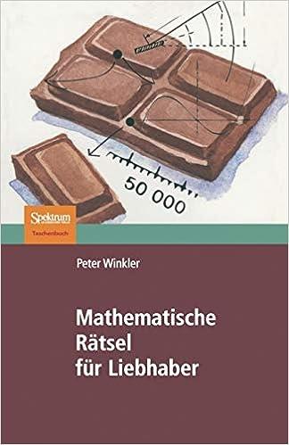 Mathematische Rätsel Für Liebhaber Amazon De Peter Winkler H