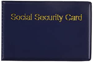 Amazon social security card holder 2 pack silver products business card holders reheart Choice Image