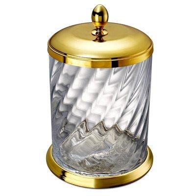 Windisch 89802O-638845337205 Spiral Collection Waste Basket, Gold