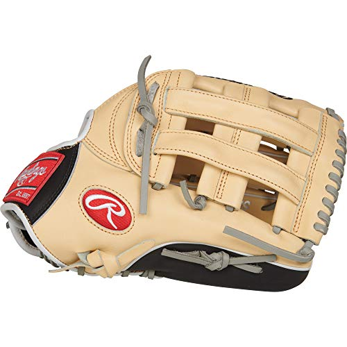 Rawlings PRO3039-6CBFS Heart of The Hide, Camel W/Black Trim, - 12.75 Inch Baseball Glove Outfield