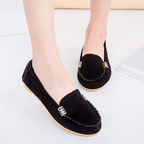 Boat Comfortable 5 Casual Womens 6 Ballet Flat Loafers UK Black Shoes 4 5 UK Colors Ladies Shoes 6 Mounter HCwXn8qfxw