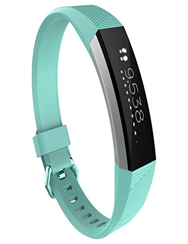 dreaman-fashion-large-replacement-wrist-band-silicon-strap-clasp-for-fitbit-alta-hr-watch-light-blue