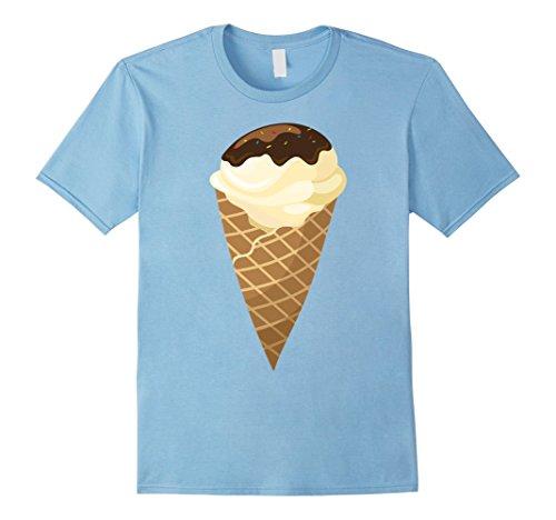 Baby Ice Cream Cone Halloween Costume (Mens Vanilla Ice Cream Cone Costume T-Shirt Small Baby Blue)
