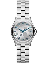 Marc by Marc Jacobs Womens MBM3269 Henry Silver Tone Blue Accent Watch