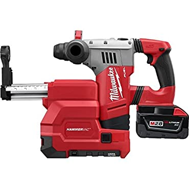 Milwaukee 0757-22DE M28 Fuel 1-1/8 SDS Plus Rotary Hammer with De Kit