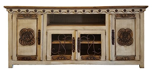 Handcrafted Entertainment Console (Hi End Rustic Medieval Hand Scrape TV Stand Available In 5 Colors (72 inch long,)