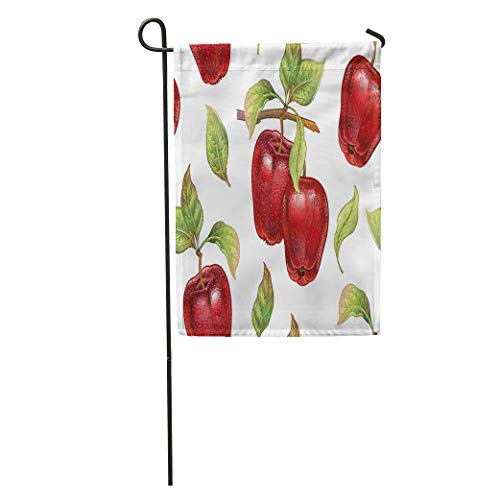 Harvest Pencil (Semtomn Garden Flag Red Apples Realistic Plant Colored Pencils Fruit Leaf Branch Home Yard House Decor Barnner Outdoor Stand 12x18 Inches Flag)