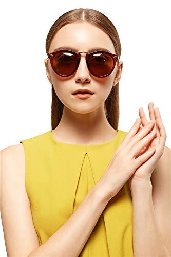 Uv400 Eyewear - Vintage Polarized Sunglasses for Women UV400 Protection Lens Eyewear Stylish Outdoor Sun Glasses for Driving Fishing-BP