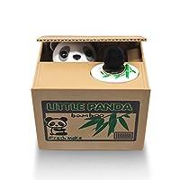 Matney Stealing Coin Panda Box Piggy Bank Panda Bear English Speaking Great for Any Child
