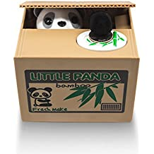 Matney Stealing Coin Panda Box Piggy Bank Panda Bear English Speaking Great for Any Child